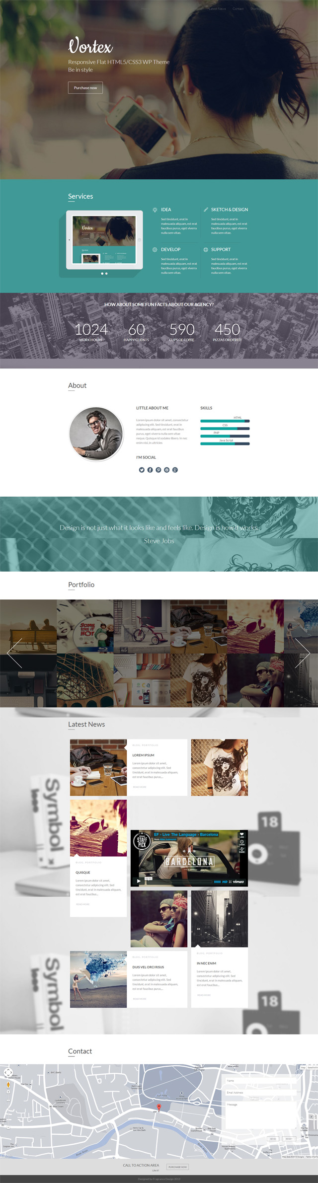 43 Of The Best Wordpress One Page Themes Single Page Parallax Landing Page Web Design Trends Wordpress Website Design Web Design