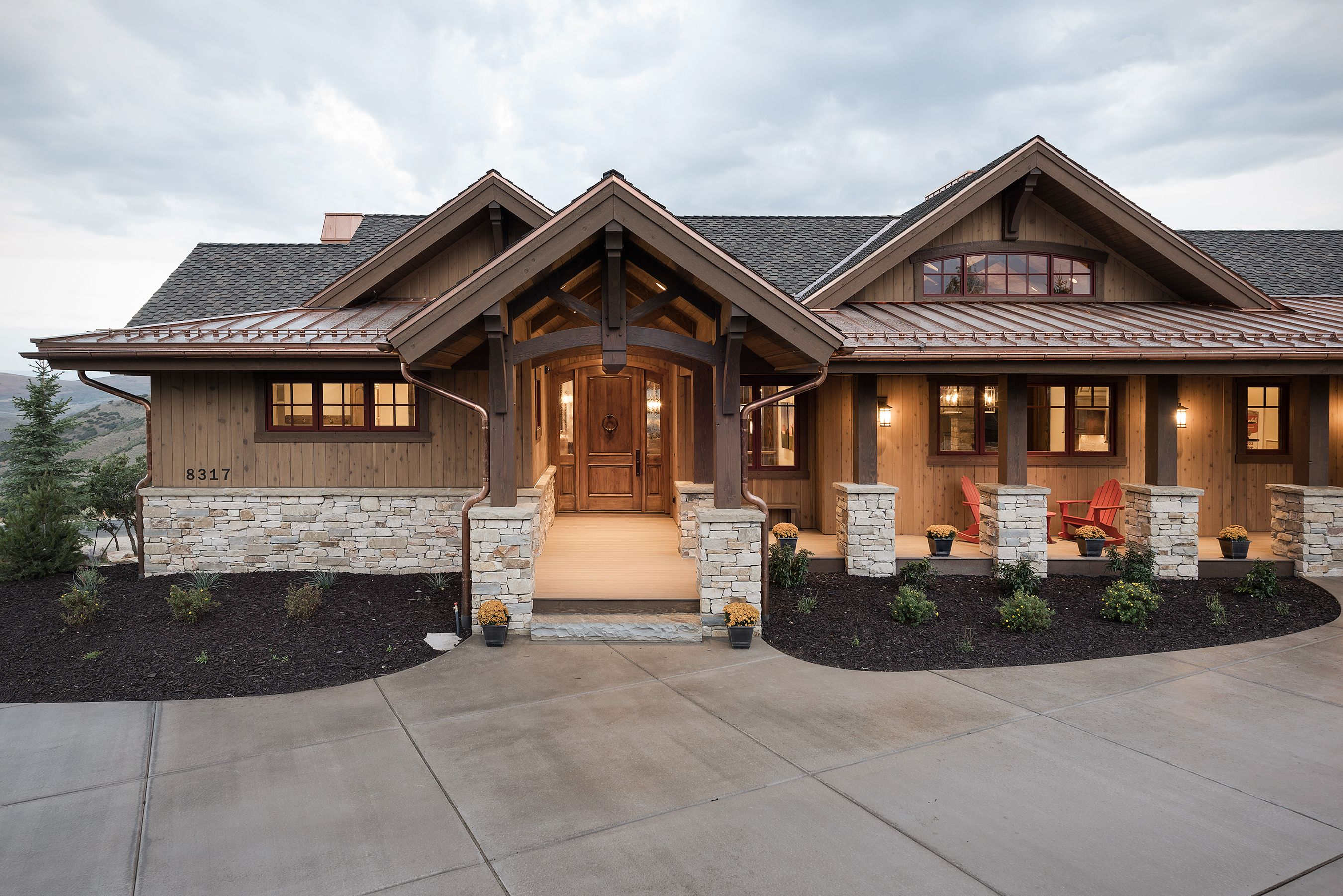Landscaping For The 2016 Park City Area Showcase Of Homes In Promontory Timberridge Utah