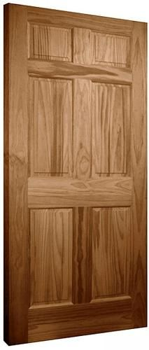 Mastercraft 30 X 80 X 1 3 8 Oak 6 Panel Interior Door Slab At
