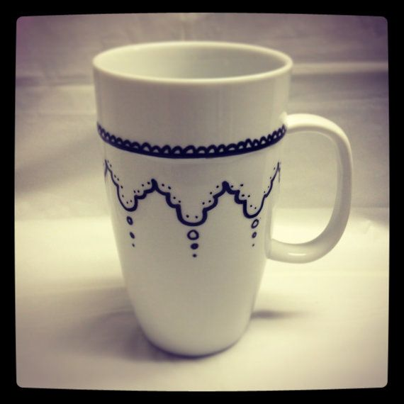 Doily Mug - So cuteee!! I'd drink my tea out of this mug any day ;)