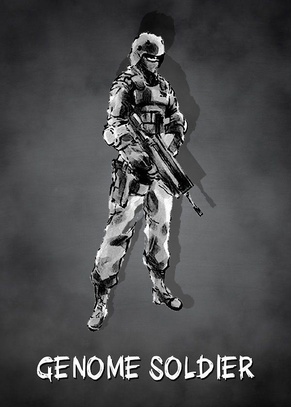 "Metal Gear Solid Chalkboard Characters Genome Soldier #Displate explore Pinterest""> #Displate artwork by artist… | Displate thumbnail"