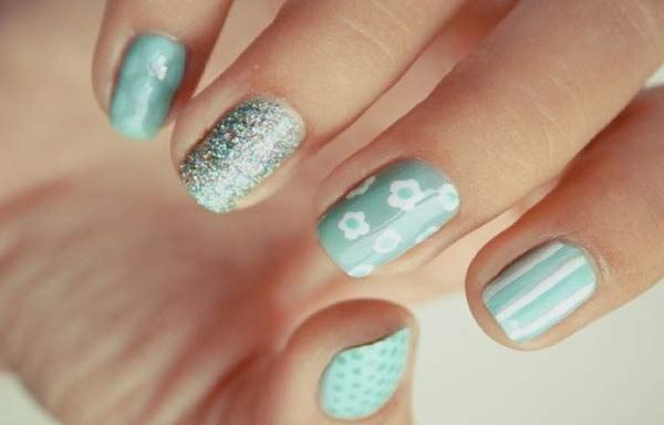Unas Decoradas Colores Pasteles Nails Nails Y Pastel