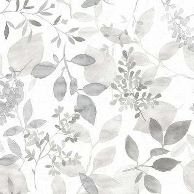 Nuwallpaper Nuwallpaper 30 75 Sq Ft Gray Vinyl Ivy Vines Self Adhesive Peel And Stick Wallpaper At Botanical Wallpaper Peel And Stick Wallpaper Grey Wallpaper