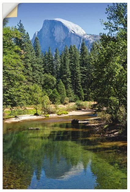 Wandfolie »Viola: Yosemite Valley Half Dome, River of Mercy« #naturallandmarks