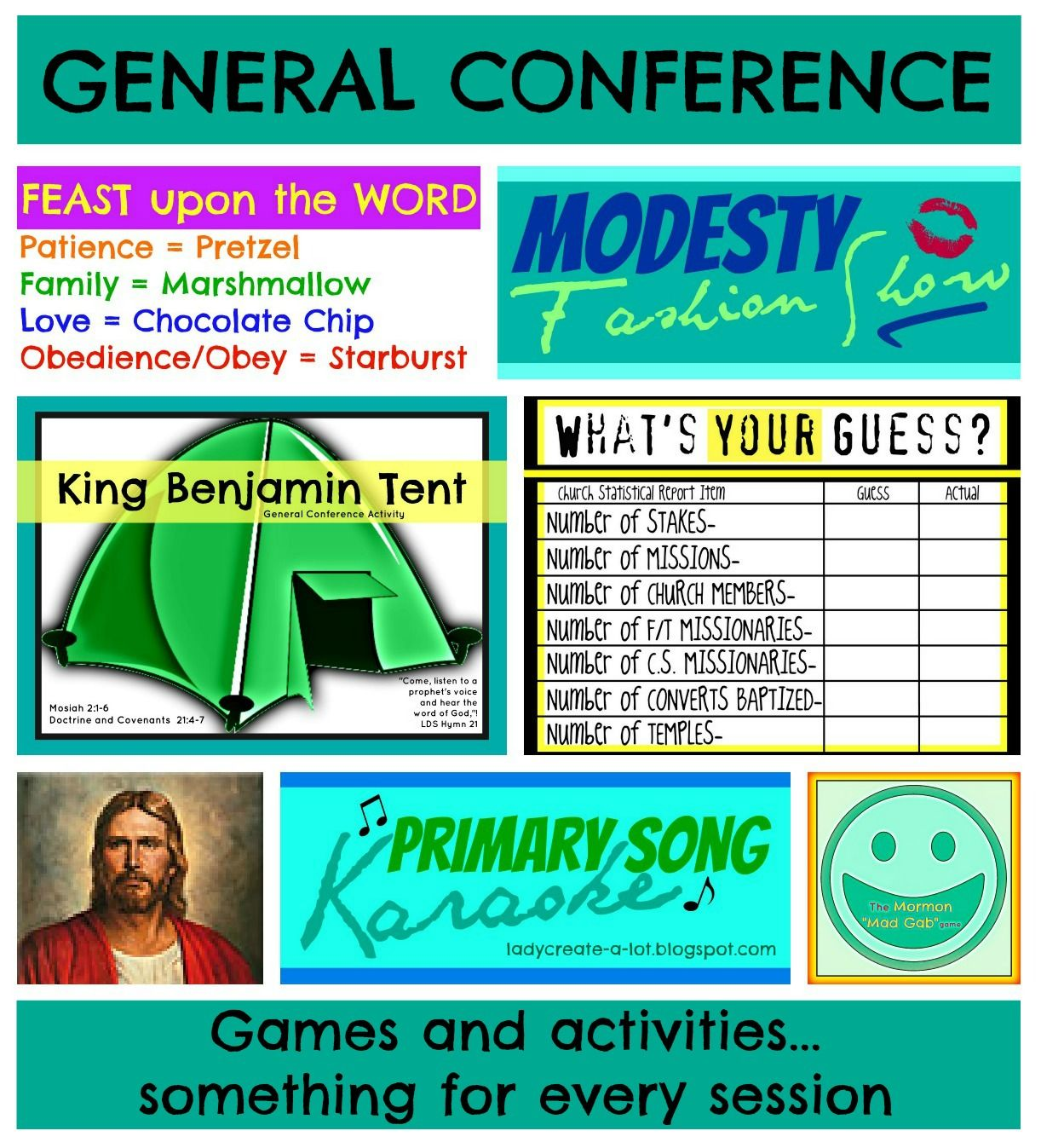 Lady Create A Lot General Conference Games Amp Activity