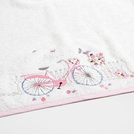 Toalla bicicleta bordada toallas ba o zara home for Toallas bano zara home