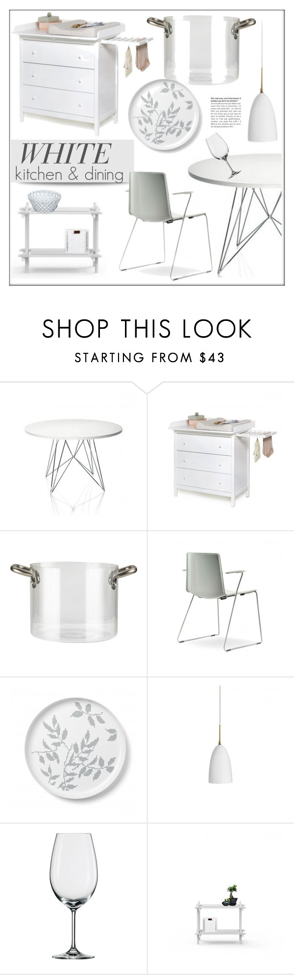 """White Kitchen & Dining"" by lovethesign-eu ❤ liked on Polyvore featuring interior, interiors, interior design, home, home decor, interior decorating, Magis, knIndustrie, Pordamsa and Koziol"