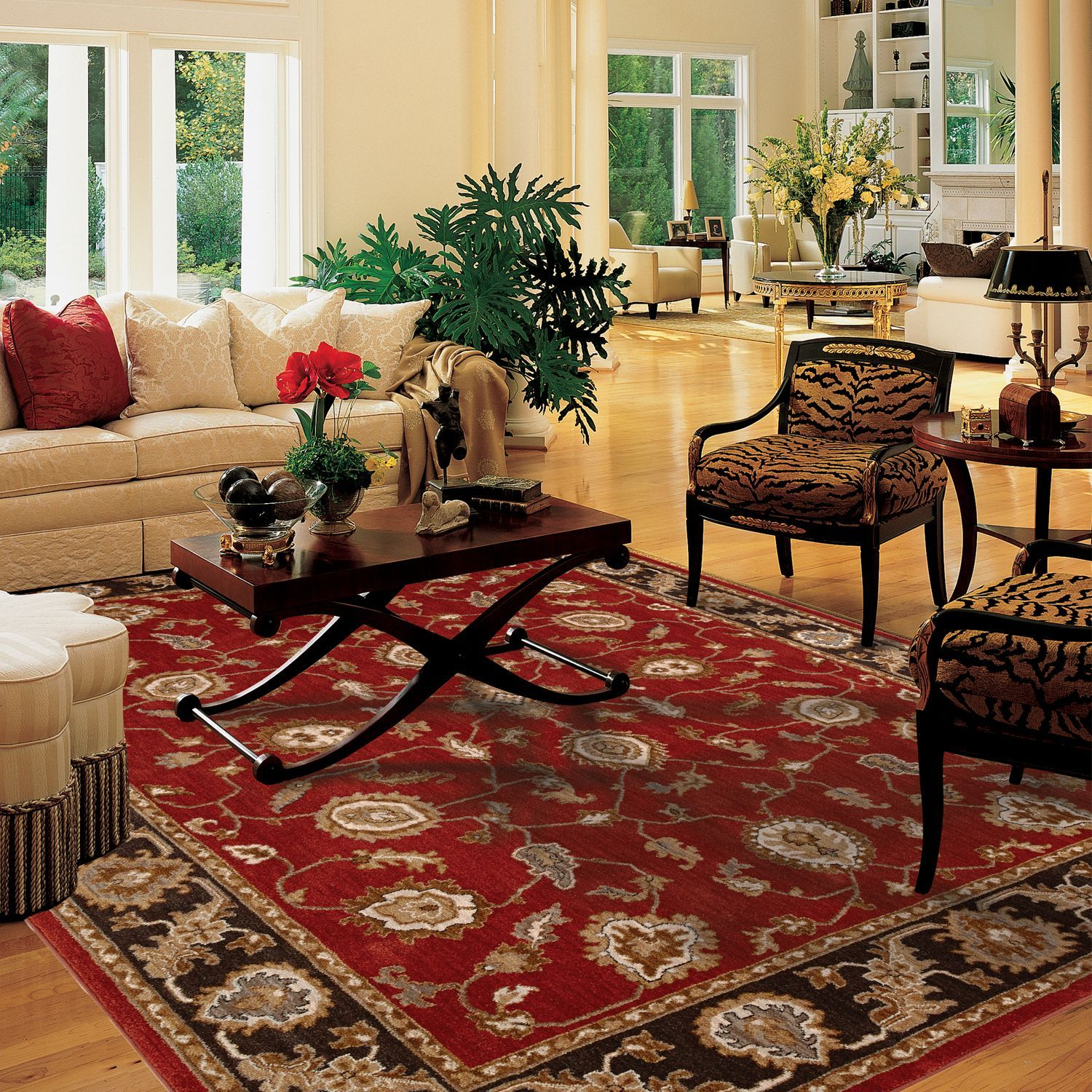 Pacific Living Collection 8x10 Area Rug