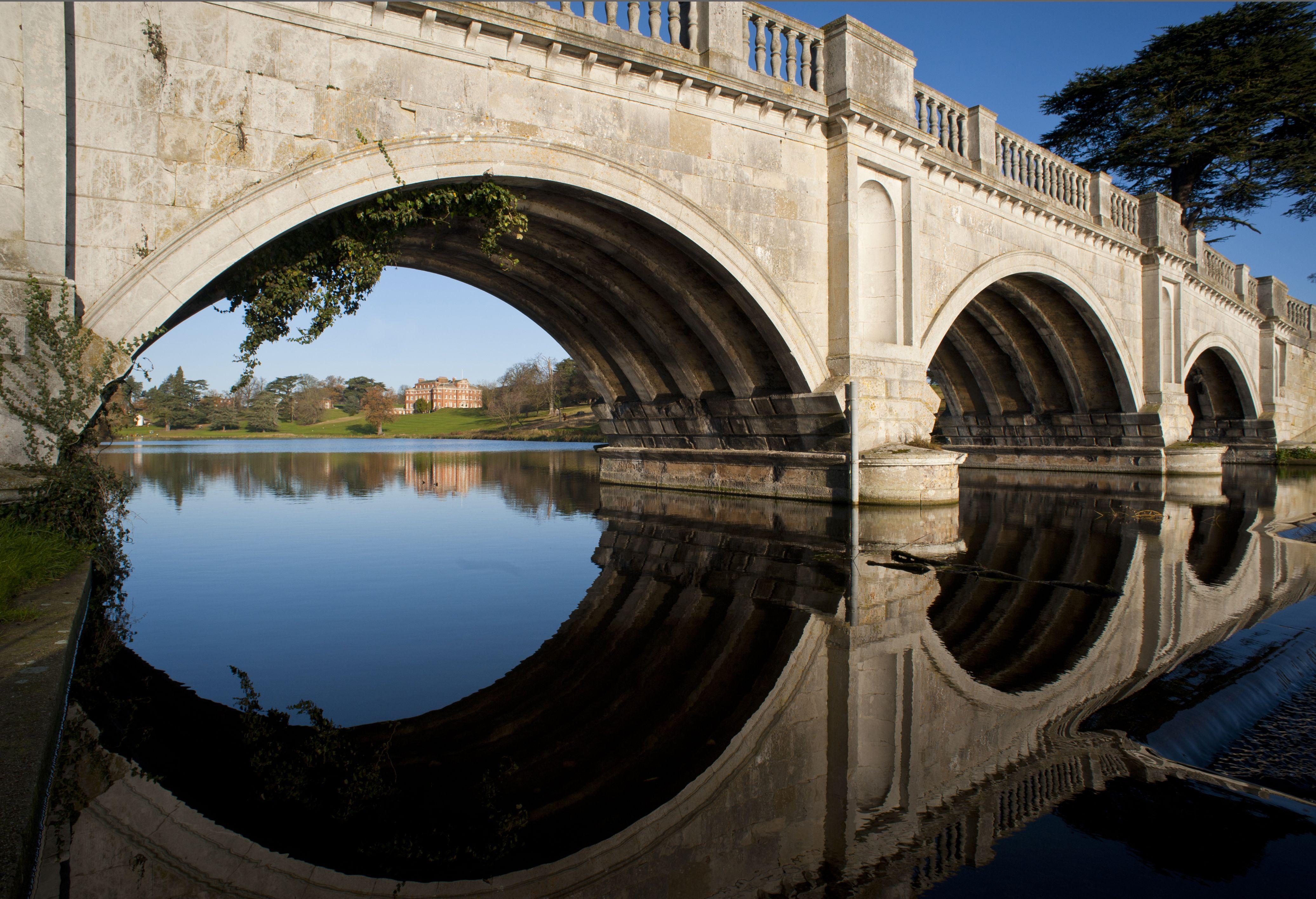 Payne Bridge on the Broadwater Lake, Brocket Hall Estate