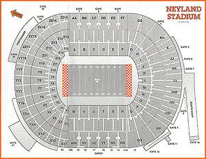 Click Now For A One Page Print Out Neyland Stadium Seats