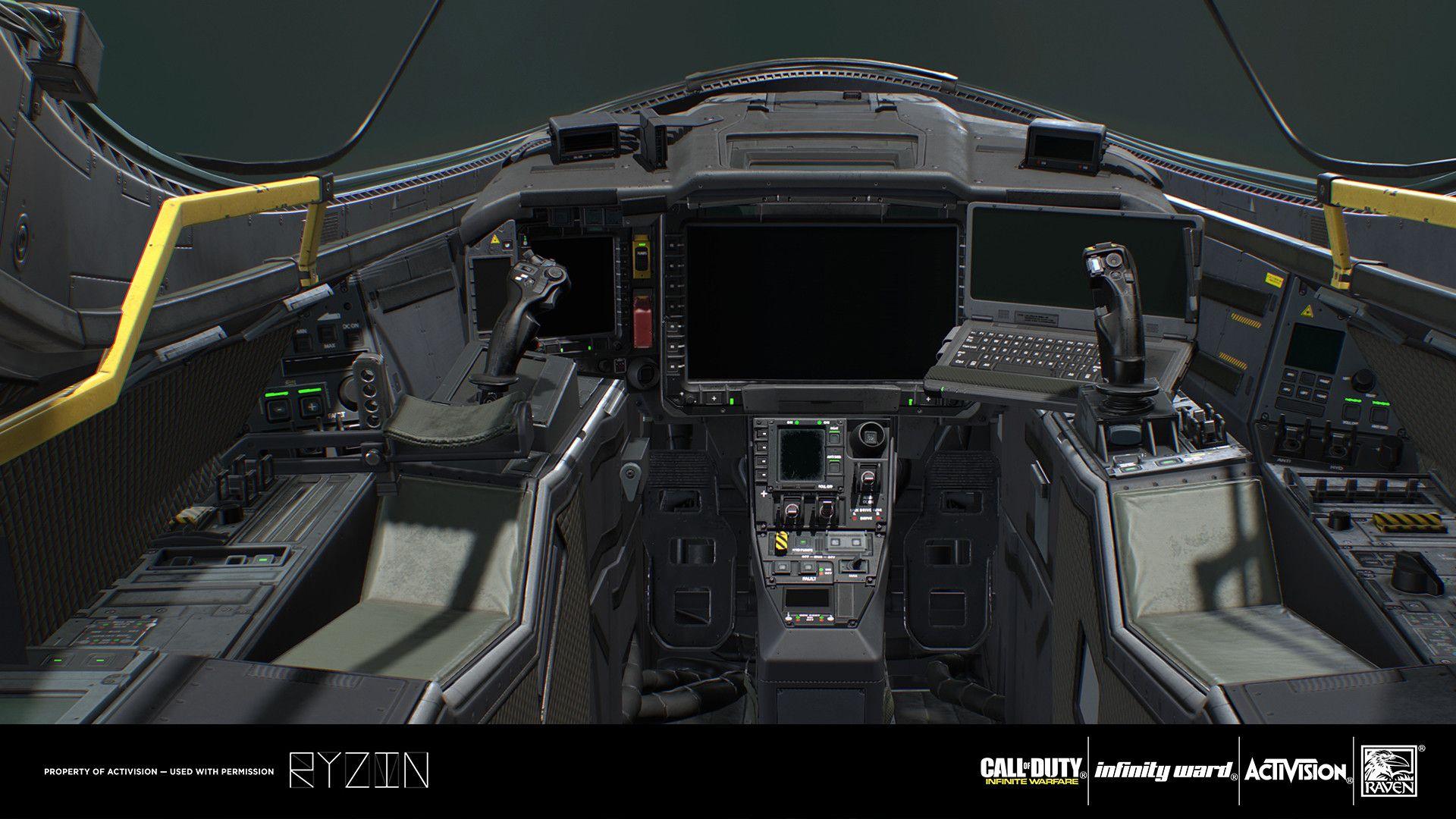 Artstation Cockpit Ryzin Art Studio Cockpit Flight Simulator