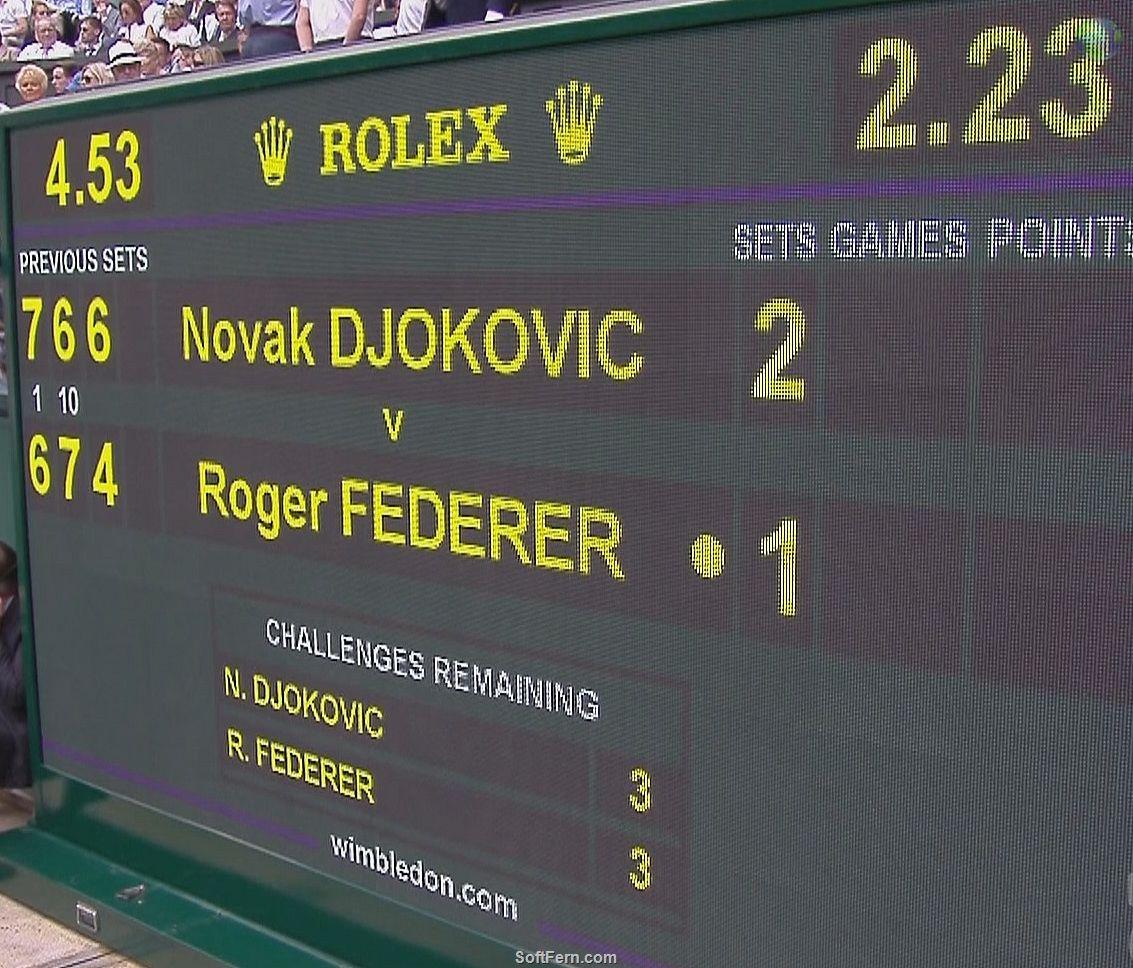 Video - Wimbledon 2015. Men Singles. Final. Novak Djokovic  vs. Roger Federer. 3d set. ... 10  PHOTOS  ... Djokovic winning score is 7-6, 6-7, 6-4 and 6-3 and earned £1.88 million for his victory. Federer got £940,000 as runner-up.  Original article:   http://softfern.com/NewsDtls.aspx?id=1028&catgry=9    #Grand Slam