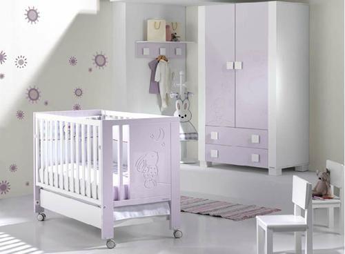Mi cuna… colecciones en lila para todos los gustos | Habitación bebe ...