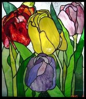 tulip panel - Cranberry Stained Glass Studio & Supply