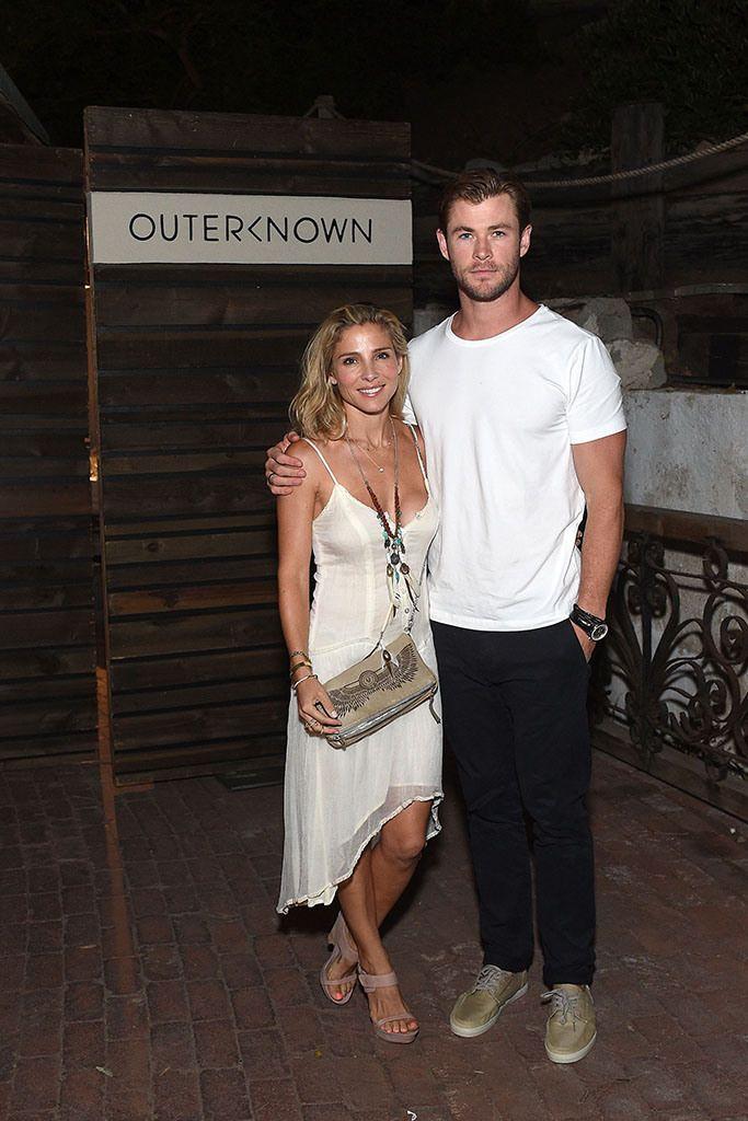 The Australian actor Chris Hemsworth (Rush, Thor) and his wife, Spanish model Elsa Pataky.