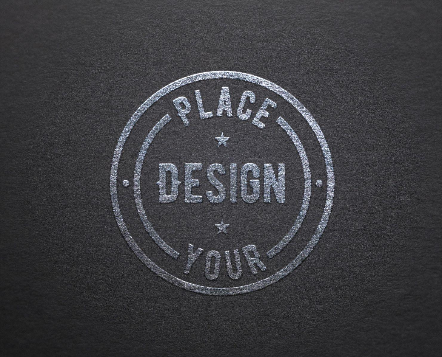 Free Logo Mockup Silver Gold Apemockups In 2021 Free Logo Mockup Free Logo Logo Mockup
