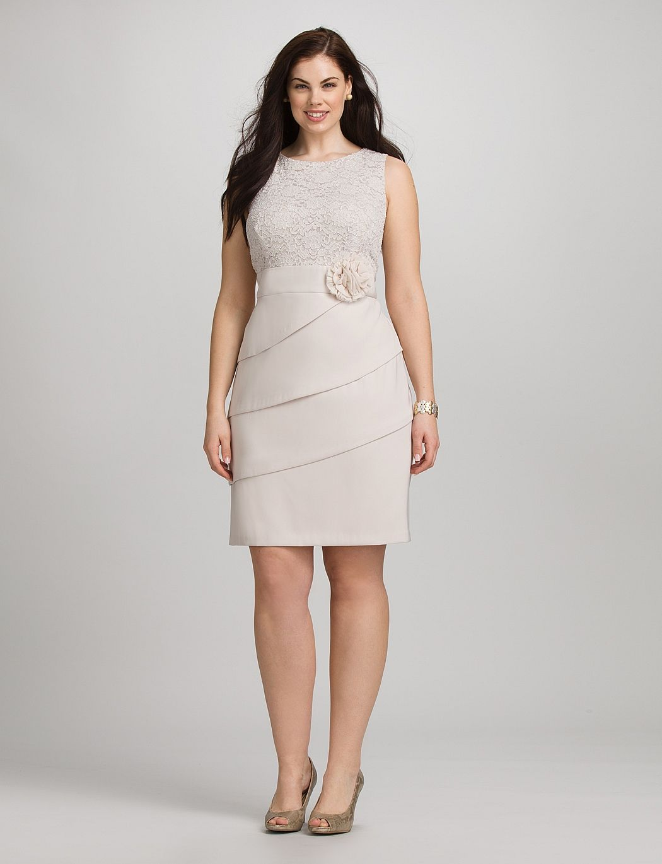 plus size | dresses | plus size lace top flower dress | dressbarn