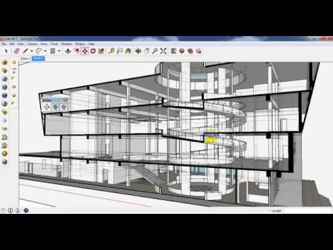 3d Render Section In Sketchup Sketchup Tutorial Rendering Autocad Tutorial