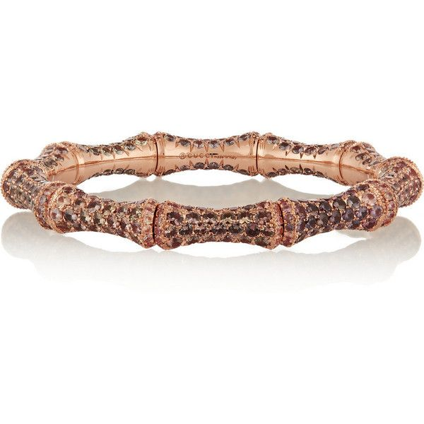 21d801707 Gucci 18-karat rose gold sapphire bamboo bracelet ($35,500) ❤ liked on  Polyvore featuring jewelry, bracelets, gold, pink gold bracelet, sapphire  bracelet, ...