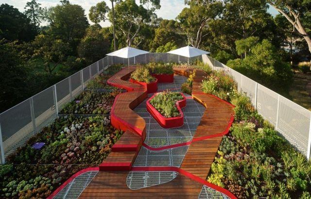 australien begr ntes flachdach pflanzen v gel anlocken green roof pinterest flachdach. Black Bedroom Furniture Sets. Home Design Ideas