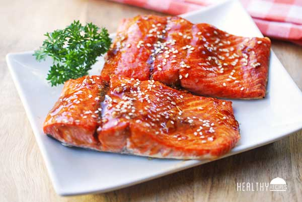 Teriyaki Salmon #teriyakisalmon