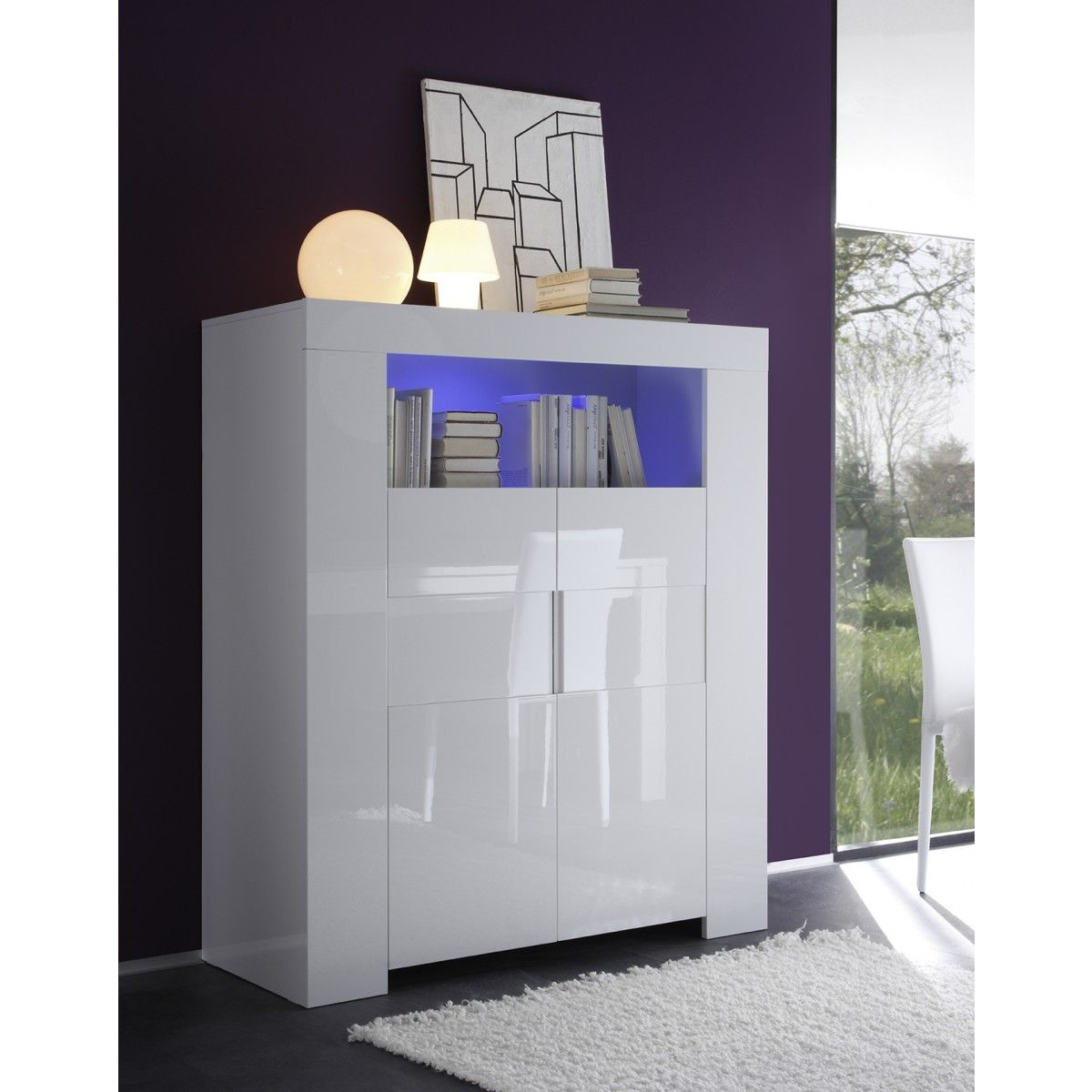Tonnant Meuble Laqu Blanc D Coration Fran Aise Pinterest  # Meuble Haut Pour Salon Blanc Laque
