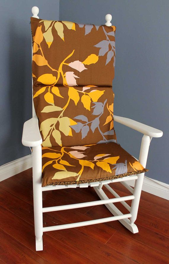 ON SALE Rocking Chair Cushion Leopard Branches By RockinCushions, $29.00