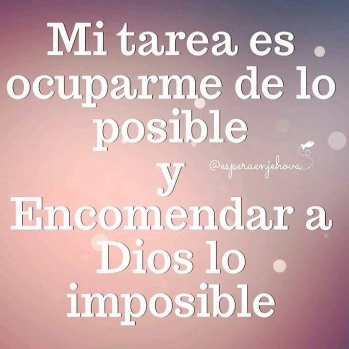 Encomendar a Dios lo imposible