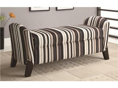 Incroyable Black And White Striped Upholstered Bench  Http://www.osmonddesignsfurniture.com/Dallas Designs Vinyl Storage Bench With Curved /500950 556/ItemInformation.  ...
