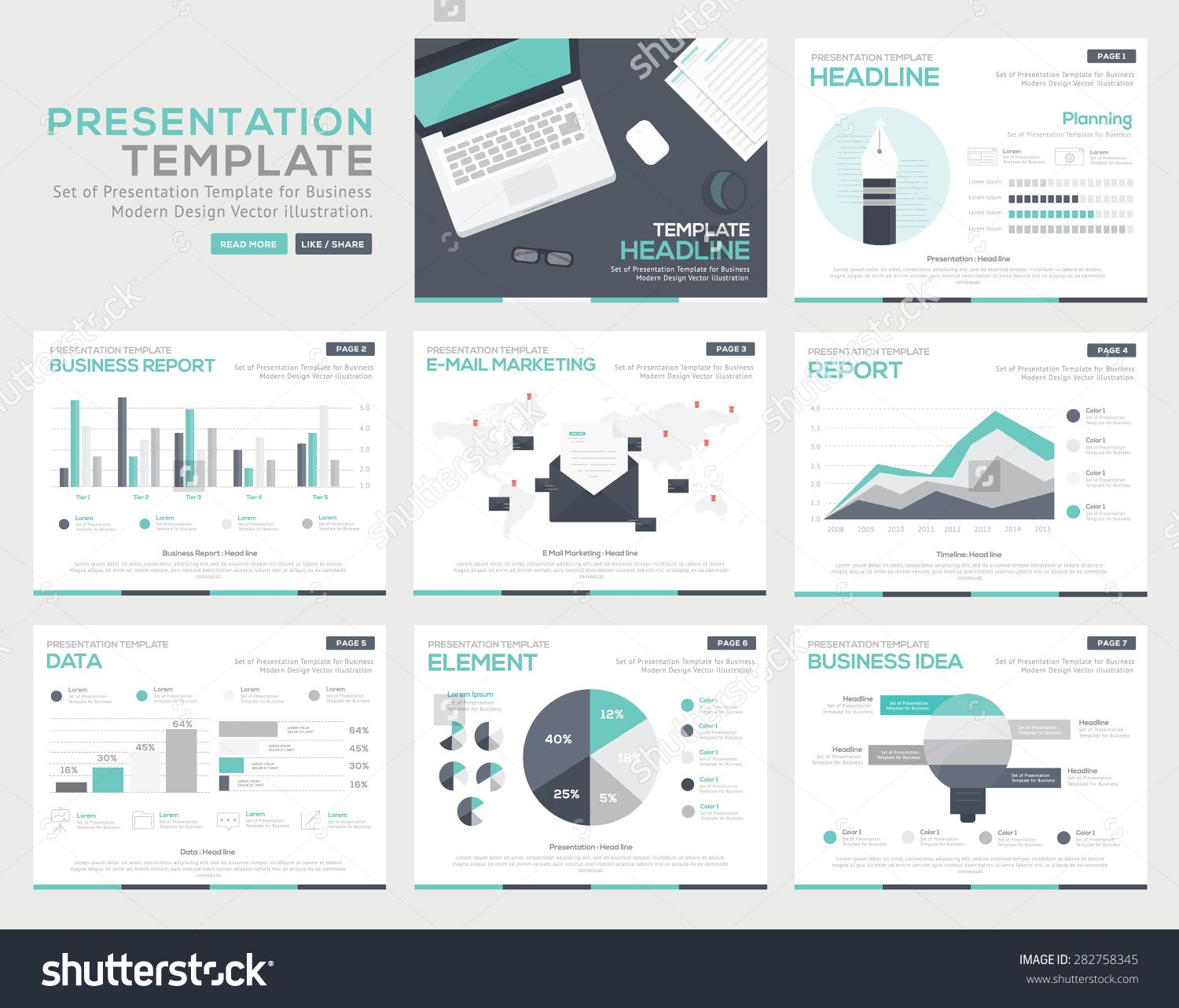 Set of infographic Presentation Template , Infographic Element ...