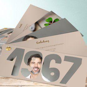 geburtstagseinladungen - selbst online gestalten | deko 50er, Einladung