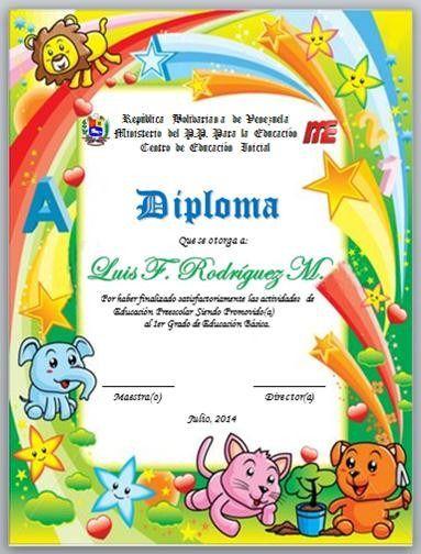 diplomas para graduacion preescolar mis peliculas astrea