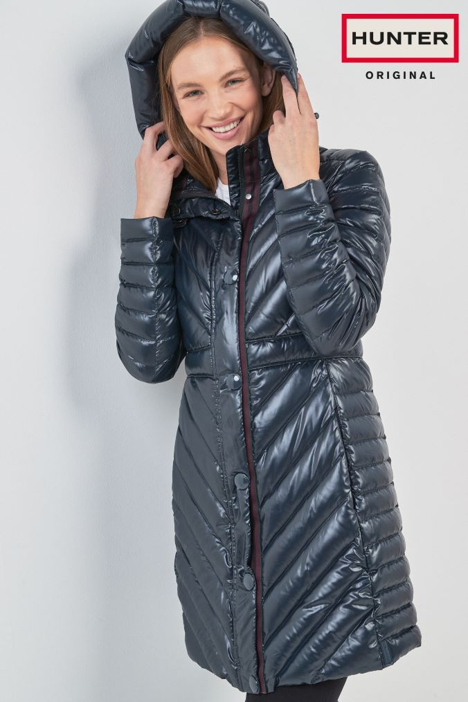9931600f2d6 Womens Hunter Navy Original Long Padded Coat - Blue | Products ...