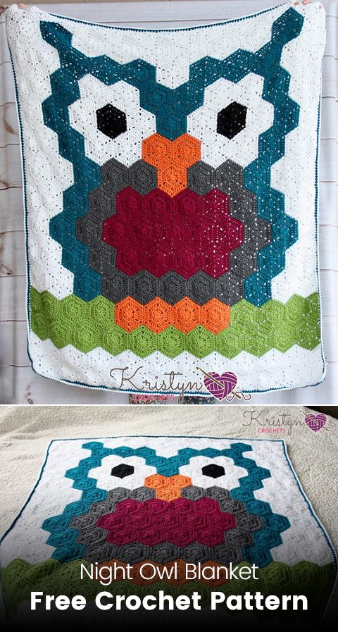 Night Owl Blanket Free Crochet Pattern Crochet Crafts Owl Style Cool Owl Afghan Crochet Pattern Free