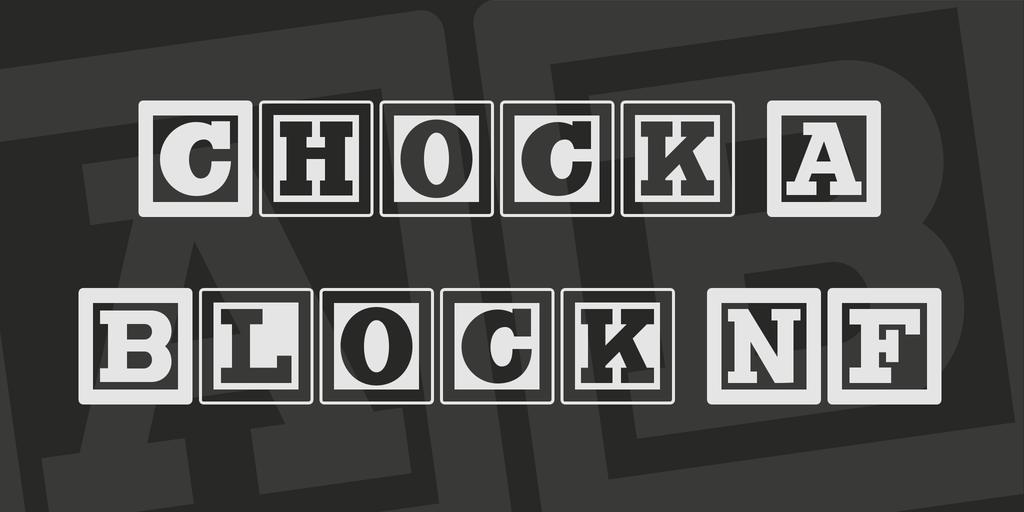 Chock A Block Nf Font   Fonts  Crafts    Font