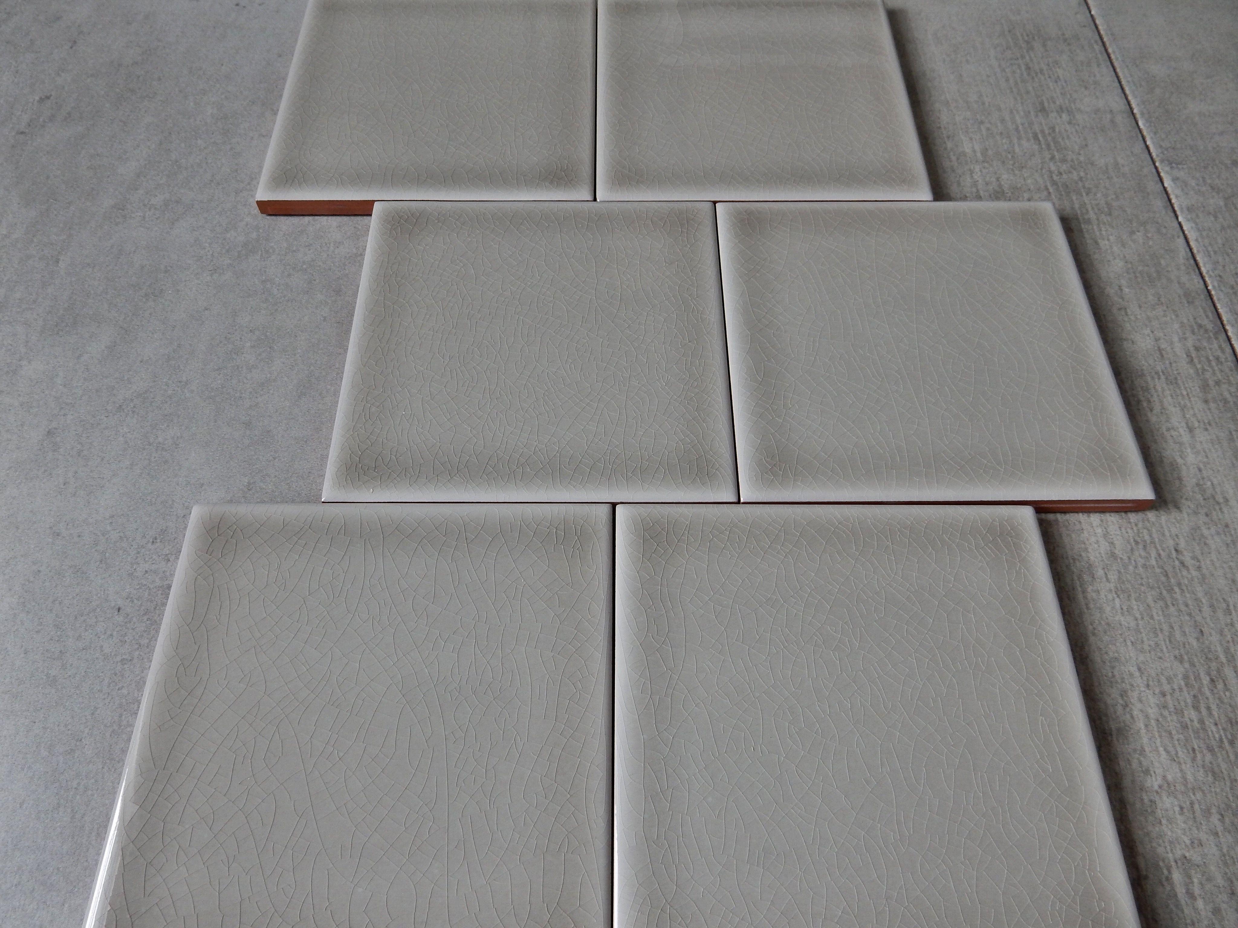 crackled effet grey square tile senio newport collection tiles