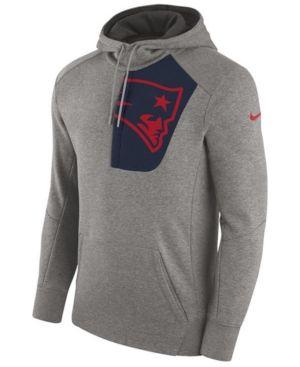 New Nike Men's New England Patriots Fly Fleece Hoodie Gray XXL  free shipping