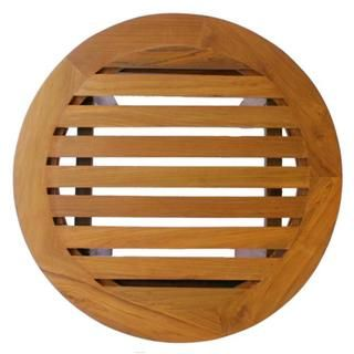 Natural Teak Wood Slatted Round Coffee Table | Overstock.com Shopping - Great Deals on Coffee, Sofa & End Tables