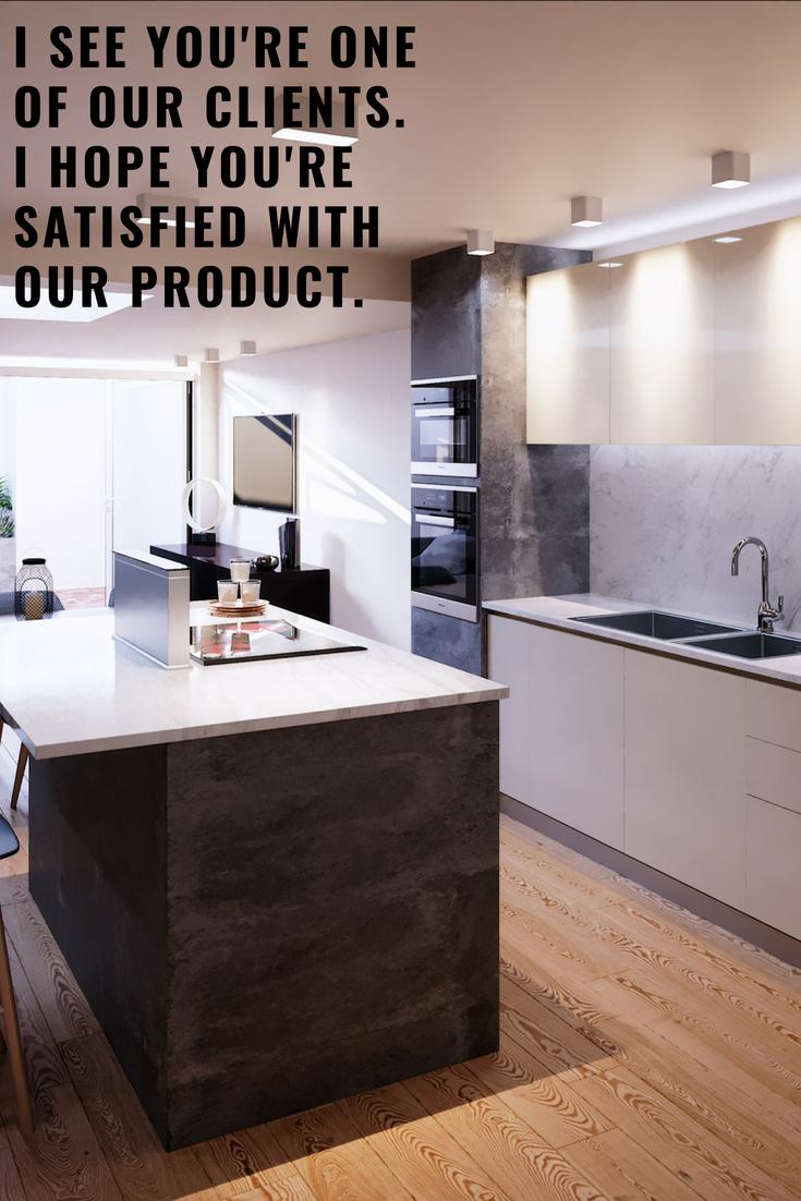contemporary interior designed kitchen natural light