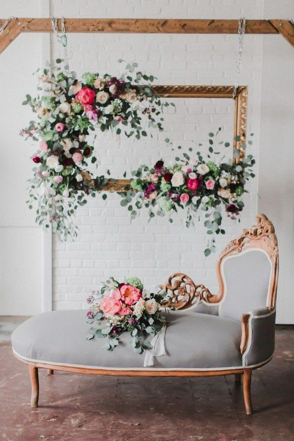 Trending 15 hottest wedding backdrop ideas for your ceremony chic vintage floral photo booths wedding backdrop ideas solutioingenieria Images