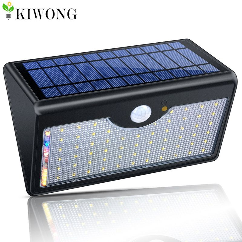 60 Led Solar Light 1300lm Super Bright Upgraded Lamp Lights For Outdoor Wall Yard Garden With