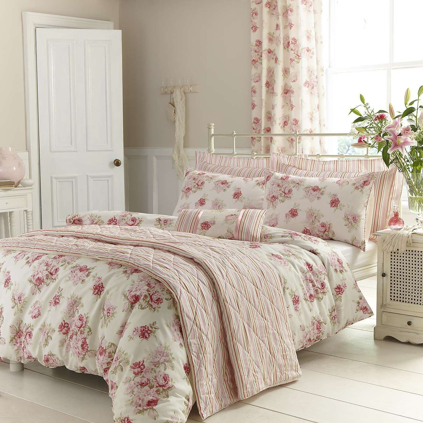Pink Annabella Duvet Cover Set Dunelm Single