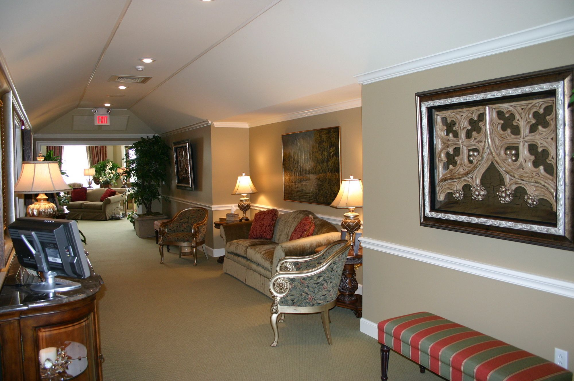 Funeral Home Interior Colors For One Space Coffee Lounge Funeral Home Interior Design