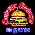 Cheeburger Cheeburger  » No volvería  » Fue al primer lugar que fuimos a comer el primer dìa que nos instalamos en NY, llovía, estábamos cansados, el mozo era mala onda y las hamburguesas nada especial