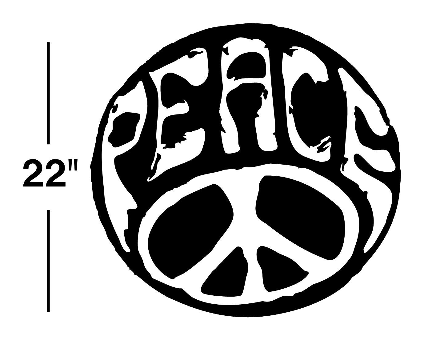 Peace Sign Bedroom Decor Peace Sign Decal Sticker Wall Art Car Graphics Room Decor Emo Goth