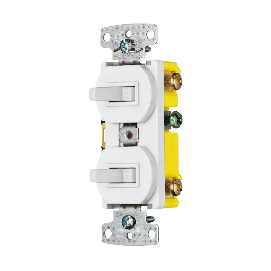 Hubbell Single Pole White Led Combination Light Switch Rc101wz In 2020 Light Switch Led Switch