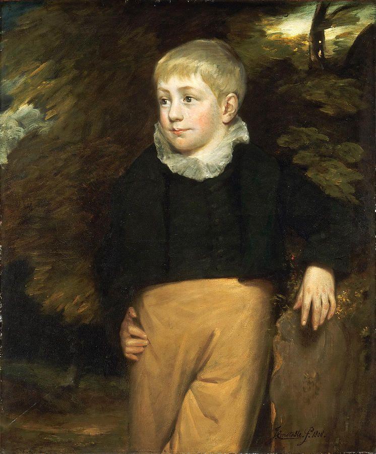 John Constable (British, 1776-1837) : Portrait Of Master Crosby.
