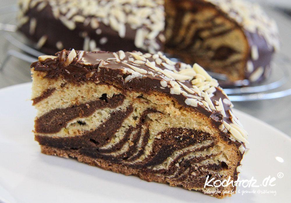 Zebrakuchen - glutenfrei und laktosefrei #glutenfreierezepte