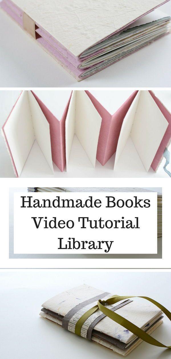 Bookmark this list of handmade book tutorials - video and photo tutorials #handmadebook #crafttutorial