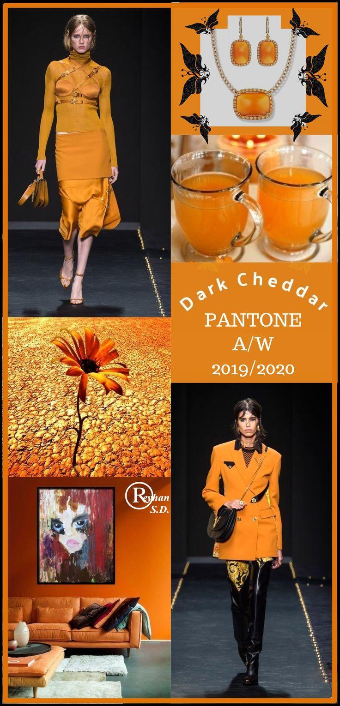 '' Dark Cheddar'' Pantone - Autumn/ Winter 2019/ 2020 Color- by Reyhan S.D. #pantone2020